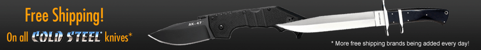 Free shipping on Cold Steel Knives